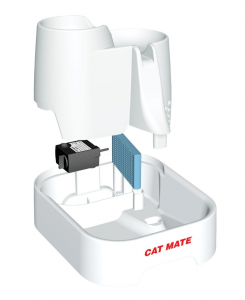 Cat Mate Pet Fountain - set up