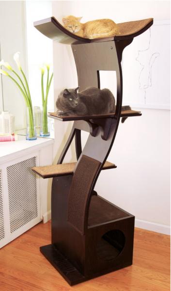 Refined feline Lotus cat Tower