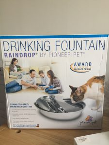 Pioneer Pet Stainless Steel Fountain Raindrop whats in the box