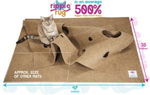 Puzzle toys for cats - Ripple Rug Review