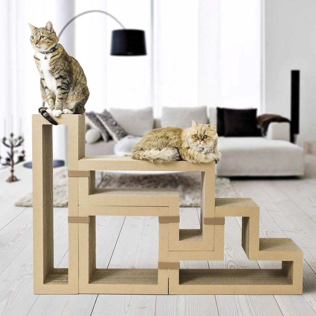 katris modular cat tree lounging around on this great piece of modular cat furniture