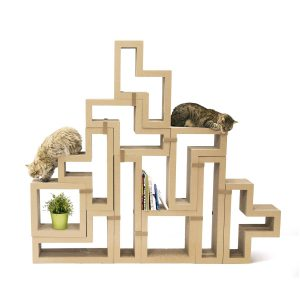 katris modular cat tree fitting sets together to make perfect furniture