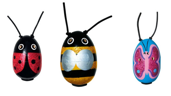 Kong wooden refillable cat toy in butterfly, bee and ladybird designs