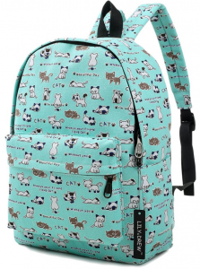Cool back to school backpacks. Lightweight canvas backpack in cat print