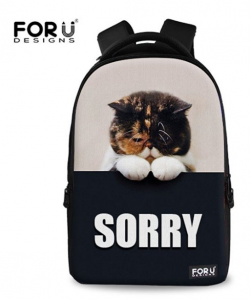 cool cat backpacks for back to school. For U Designs cute cat shoulder backpack