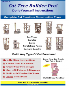 Cat Tree Builder Pro. Do it yourself cat tree building plans