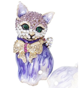 ever faith austrian crystal cat pins. crystal encrusted cat brooch