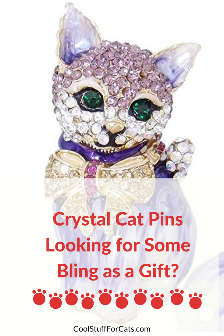 crystal cat pins