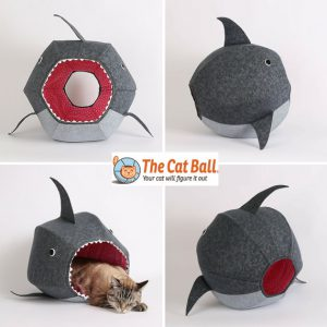 cat ball great white shark cat bed. The tubby soft cat pod shaped like a shark