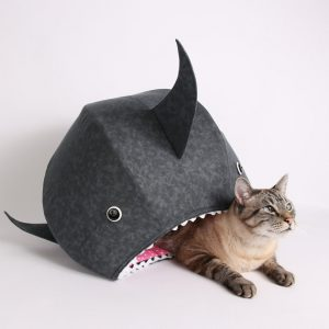 cat ball great white shark cat bed