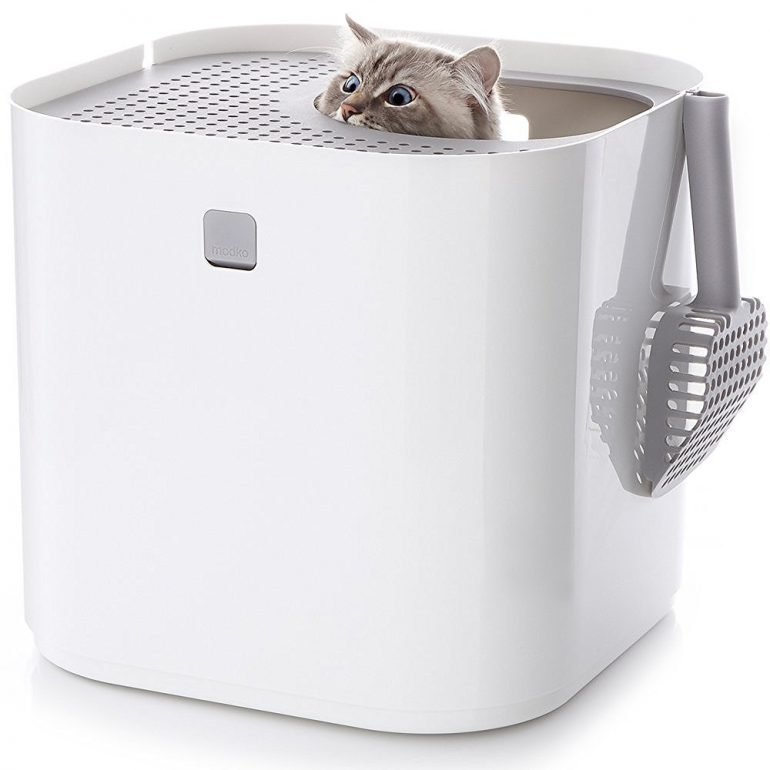 Stylish top entry litter box modkat litter box review for Stylish cat litter box