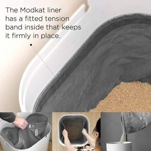 modkat modern cat litter box with reusable easy to clean tarp liner