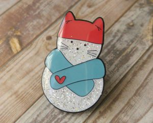 diglot-etc-snowcat-enamelled-pin-stocking-stuffer