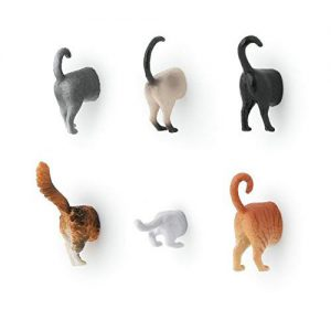 Kikkerland cat butt fridge magnets