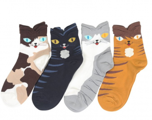 womens cat eye cartoon socks