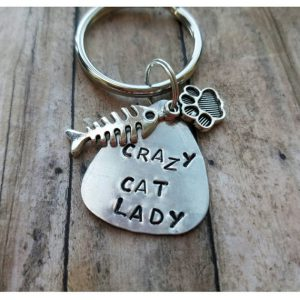 crazy cat lady keychain stocking stuffer