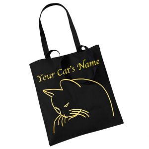 Personalized cat tote bag