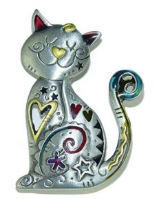 Spoontiques Smiling Cat Pin