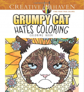 grumpy cat hates coloring adult cat coloring book