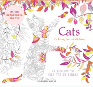 De-stress with a cat coloring book - 70 mindful designs