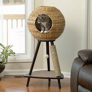 sauder natural cat sphere tower