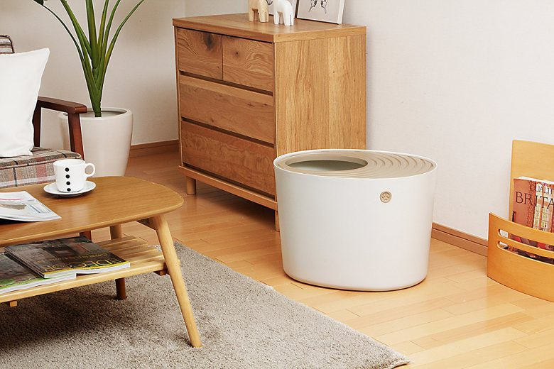 IRIS top entry litter box