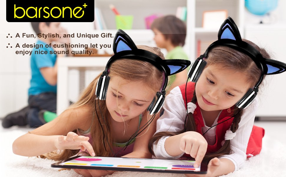 Barsone Cat Ears Headphones