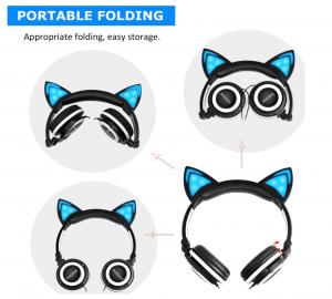 barsone folding kitty ears headphones