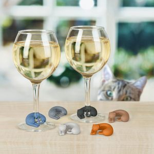 fred and friends cat wine markers