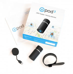 Pod 3 GPS pet Tracker whats in the box