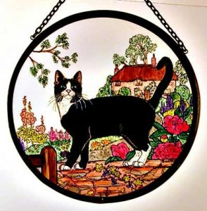 hand painted stained glass sun catcher