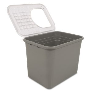 petmate litter box with flipped lid