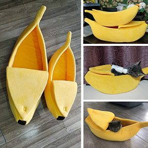 pet grow cute banana cat bed