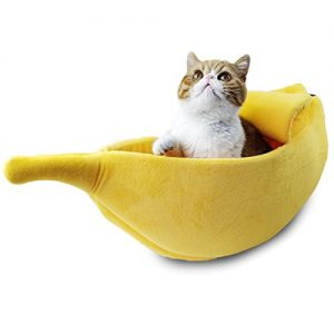 Pet Grow Cat Banana Bed