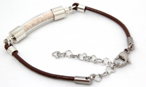 sea ranch jewelry leather cremains pet memorial bracelet