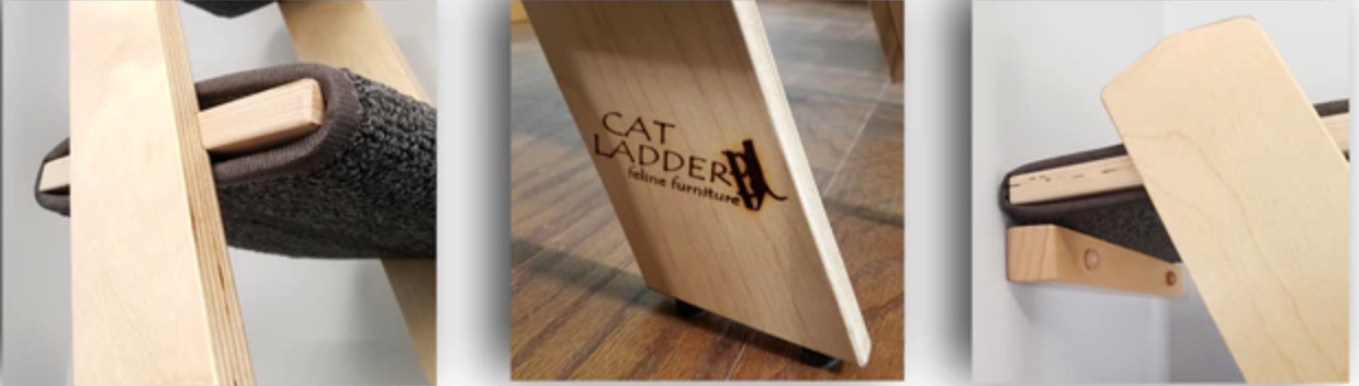 Birch cat ladders on kickstarter