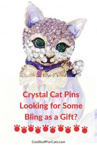 crystal cat pins