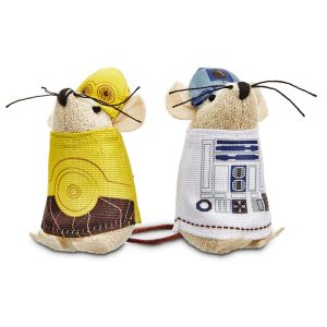 star wars cat toy droids R2-D2 and C3-PO